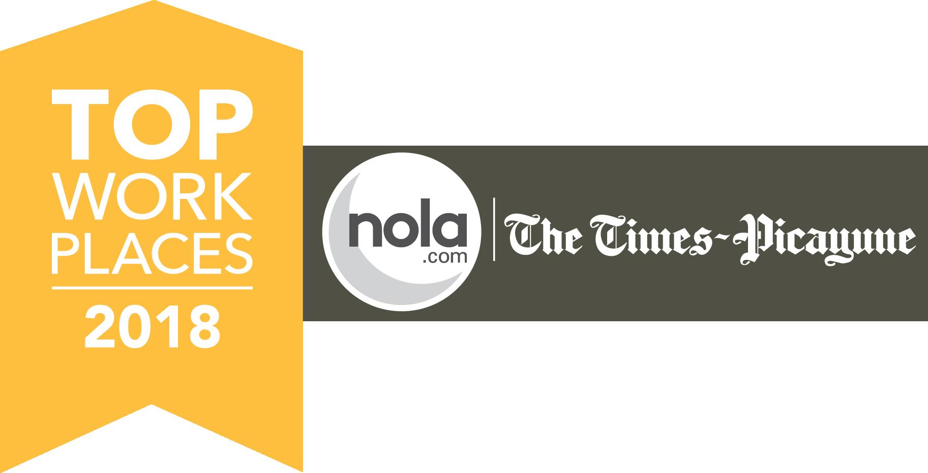 Louisiana FCU receives the Top Workplace of 2018 Award