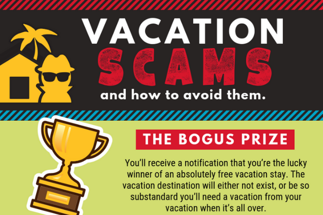 [Infographic] 4 vacation scams to watch out for this summer (and how to avoid them)