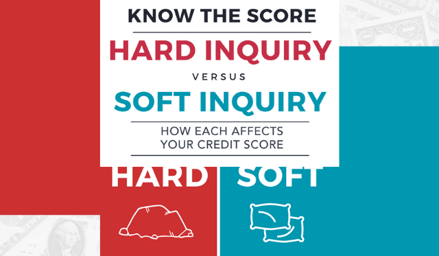 Infographic: The difference between a hard and soft credit inquiry